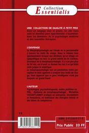 N.15 Morphopsychologie (La) - 4ème de couverture - Format classique