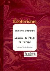 Mission de l'inde en europe - Couverture - Format classique