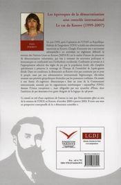 Les équivoques de la construction volontariste de la démocratie au Kossovo - 4ème de couverture - Format classique