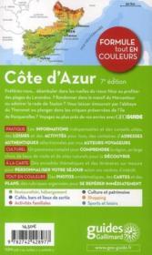 Geoguide ; Côte D'Azur (Edition 2011) - 4ème de couverture - Format classique
