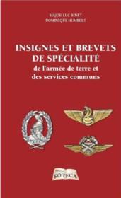 Insignes et brevets de spécialité de l'armée de terre et des services communs - Couverture - Format classique