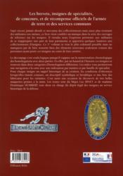 Insignes et brevets de spécialité de l'armée de terre et des services communs - 4ème de couverture - Format classique
