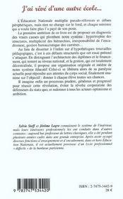 J'Ai Reve D'Une Autre Ecole - 4ème de couverture - Format classique