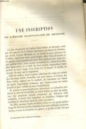 UNE INSCRIPTION DE L'EGLISE SAINT-JULIEN DE BRIOUDE / PRIX-FAIT D'UN TABLEAU, commandé au peintre Guy Francois, pour la cathédrale du Puy - Couverture - Format classique