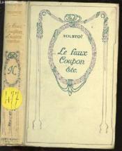 Le Faux Coupon Et Autres Contes. - Couverture - Format classique