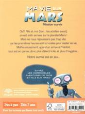 Ma vie sur Mars T.2 ; mission survie - 4ème de couverture - Format classique