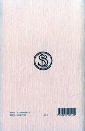 Histoires t.2 ; livre 2 ; Euterpe - 4ème de couverture - Format classique
