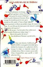 Les tulipes rouges de téhéran - 4ème de couverture - Format classique