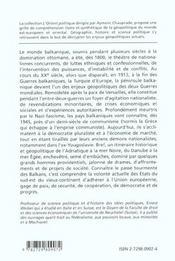 Histoire Et Geopolitique Des Balkans De 1800 A Nos Jours - 4ème de couverture - Format classique