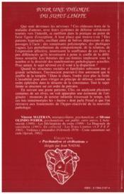Pour une theorie du sujet-limite ; l'originaire et le trauma - 4ème de couverture - Format classique
