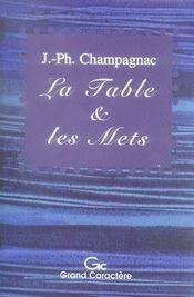 La table et les mets ; histoires de la vie quotidienne - Intérieur - Format classique