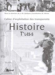 Histoire ; terminales L, ES ; pochette transparents - Couverture - Format classique