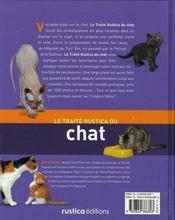 Le traite rustica du chat - 4ème de couverture - Format classique