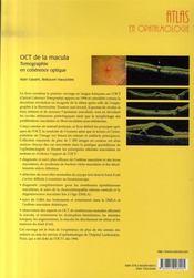 Oct de la macula ; tomographie en cohérence optique - 4ème de couverture - Format classique