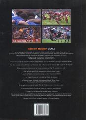 L'annee du rugby 2002 - 4ème de couverture - Format classique