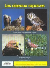 Les Oiseaux Rapaces - 4ème de couverture - Format classique