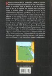 Egypte, au coeur de la civilisation pharaonique - 4ème de couverture - Format classique