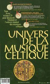 Coffret Univers De La Musique Celtique - 4ème de couverture - Format classique