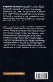 Les codes noirs hispaniques - 4ème de couverture - Format classique