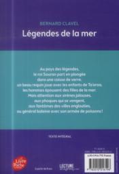 Légendes de la mer - 4ème de couverture - Format classique