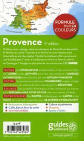 Geoguide ; Provence (Edition 2011) - 4ème de couverture - Format classique