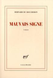 Mauvais signe - Couverture - Format classique