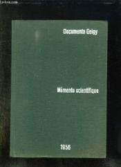 Memento Scientifique. 1956. - Couverture - Format classique