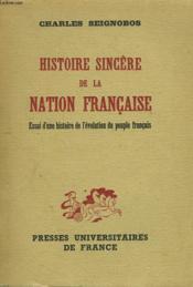 Histoire Sincere De La Nation Francaise. - Couverture - Format classique