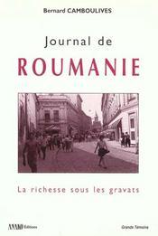 Journal de roumanie 1990 -1998 - Intérieur - Format classique