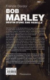 Bob Marley ; destin d'une âme rebelle - 4ème de couverture - Format classique