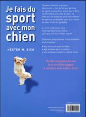 Je fais du sport avec mon chien - 4ème de couverture - Format classique