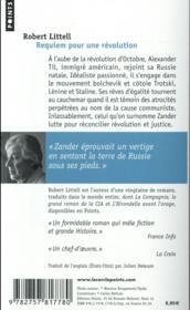 Requiem pour une révolution - 4ème de couverture - Format classique