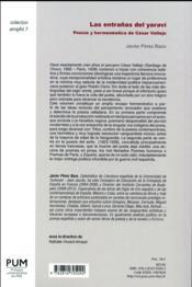 Las entranas del yaravi - 4ème de couverture - Format classique