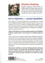 Brèves réponses aux grandes questions - 4ème de couverture - Format classique