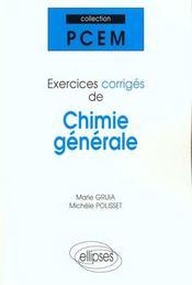Exercices Corriges De Chimie Generale - Intérieur - Format classique