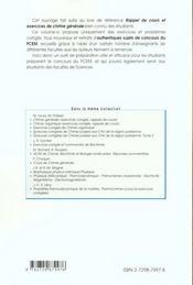 Exercices Corriges De Chimie Generale - 4ème de couverture - Format classique