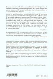 Litterature et medecine - petite anthologie litteraire a l'usage des etudiants en medecine - 4ème de couverture - Format classique