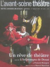 Revue L'Avant-Scene Theatre N.1225 ; Un Rêve De Théâtre ; L'Impromptu De Douai - Intérieur - Format classique