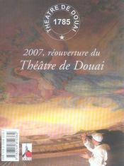 Revue L'Avant-Scene Theatre N.1225 ; Un Rêve De Théâtre ; L'Impromptu De Douai - 4ème de couverture - Format classique