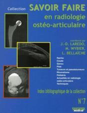 Savoir faire en radiologie osteo-articulaire t7 - Couverture - Format classique