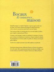 Bocaux et conserves maison - 4ème de couverture - Format classique