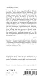Theatres Intimes - Le Temps Du Theatre - 4ème de couverture - Format classique