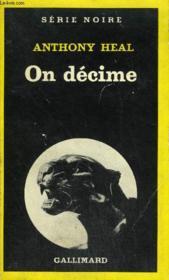 Collection : Serie Noire N° 1760 On Decime - Couverture - Format classique