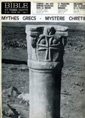 Bible Et Terre Sainte N°90 : Mythes Grecs - Mystere Chretien - Couverture - Format classique