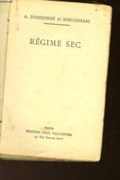 Regime Sec - Couverture - Format classique