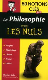 50 notions cles sur la philosophie pour les nuls - Couverture - Format classique