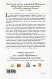 Questions de sante sur les bords de la mediterranee - 4ème de couverture - Format classique