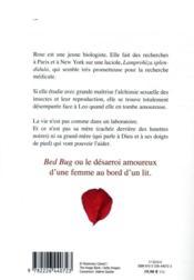 Bed bug - 4ème de couverture - Format classique