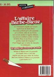 L'affaire Barbe-bleue ; un bandit qui retourne sa veste ; 8/10 ans - 4ème de couverture - Format classique