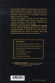Fakten in akten t.2 - 4ème de couverture - Format classique